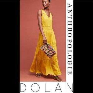 NEW Dolan Anthropologie Goldenrod Maxi Dress